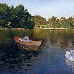 William Merritt Chase - On the Lake Central Park2