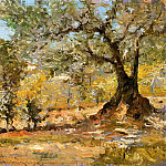 William Merritt Chase - Olive Trees Florence