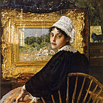 William Merritt Chase - A Study aka The Artist-s Wife