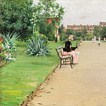 William Merritt Chase - a city park c1887
