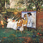 William Merritt Chase - the open-air breakfast c1888