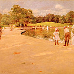 William Merritt Chase - Lilliputian Boat-Lake