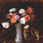 William Merritt Chase - still life- flowers c1910