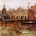 William Merritt Chase - Venice View of the Navy Arsenal