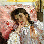 William Merritt Chase - Tired aka Portrait of the Artist-s Daughter