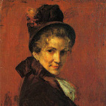 William Merritt Chase - Portrait of a Woman (black bonnet)