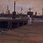 William Merritt Chase - Woman on a Dock