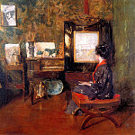 William Merritt Chase - Alice in studio in Shinnecock Long Island