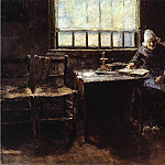 William Merritt Chase - When One is Old aka The Old Cottager