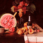 William Merritt Chase - Still Life With Watermelon