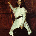 William Merritt Chase - Girl in White aka Portrait of Irene Dimock