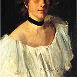 William Merritt Chase - Portrait of a Lady in a White Dress aka Miss Edith Newbold