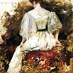 William Merritt Chase - Portrait of a Woman The White Dress