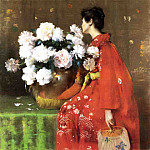 William Merritt Chase - Peonies c1897
