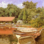 William Merritt Chase - Boat House, Prospect Park