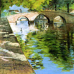 William Merritt Chase - Reflections aka Canal Scene