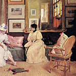 William Merritt Chase - A Friendly Call