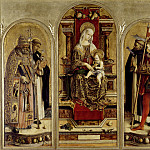 Andrea Mantegna - Camerino Polyptych - Virgin and Child Enthroned with St. Peter, St. Dominic, St. Peter Martyr, and St. Venanzo