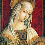 Camerino Polyptych, detail - Virgin