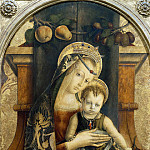 Virgin and Child Enthroned with a Franciscan in Prayer