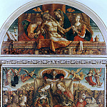 Altarpiece from San Francesco, Fabriano - Coronation of the Virgin and Lamentation of Christ