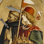 Alessandro Magnasco - Camerino Polyptych, detail - St. Peter Martyr and St. Venanzo
