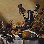 Still Life with Crab and Fruit [After]