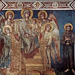 Cimabue (Cenni Di Pepo) - Madonna with angels and St. Francis