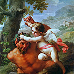 Gentile da Fabriano - Cupid and Pan