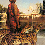 Jean Joseph Benjamin-Constant - The Palace Guard With Two Leopards
