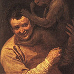 A MAN WITH A MONKEY, 1590-91, OIL ON CANVAS, Jan Baptist Lodewyck Maes