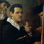 Self-portrait with three figures
