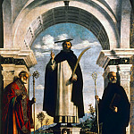 Bernardo Bellotto - The Holy Martyr Peter with St. Nicholas and St. Benedict