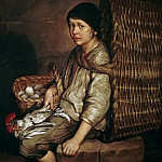 Federico Faruffini - Boy with a basket