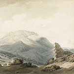 Mount Parnassus from the Road Between Livadia and Delphi