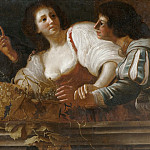 Bernardo Cavallino - The Girl with Grapes [After]