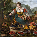 Evaristo Baschenis - Fruit Seller