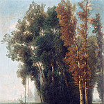Giacomo Favretto - Landscape at the forest edge