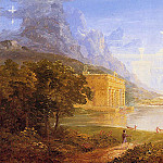 Thomas Cole - The Cross and the World Study for -The Pilgrim of the World on His Journehy-