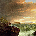 Thomas Cole - View Across Frenchman-s Bay from Mount Desert Island After a Squall