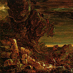 Thomas Cole - The Cross and the World Study for -The Pilgrim of the World at the End of His Journey