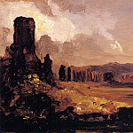 Thomas Cole - Campagna di Roma (study for -Aqueduct near Rome-)