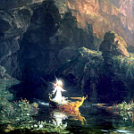 Thomas Cole - hudson the voyage of life childhood