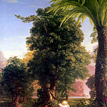 Thomas Cole - hudson the voyage of life youth-thomas cole