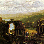 Thomas Cole - The Ruins of Taormina (sketch)