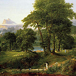 Thomas Cole - The Course of Empire The Arcadian or Pastoral State