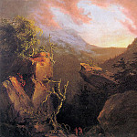 Thomas Cole - Mountain Sunrise Catskill