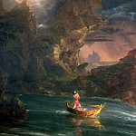 Thomas Cole - the voyage of life manhood