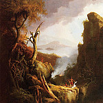 Thomas Cole - Indian Sacrifice 1826