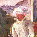 Mary Cassatt - susan on a balcony holding a dog 1883